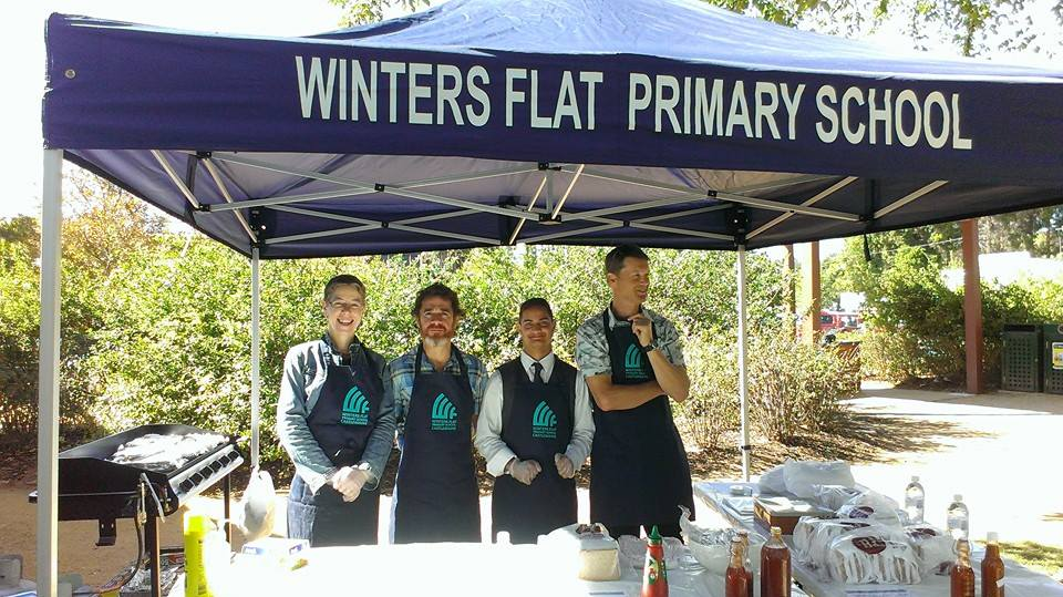 Winters Flat sausage sizzle